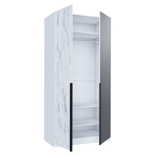 Шкаф двухстворчатый «Норд» комбинированный