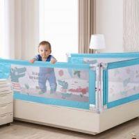 Защитный барьер для кровати цвет голубой (2)