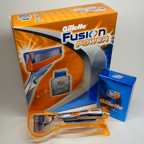 Gillette Fusion Power бритвенный станок с 1 касс. + лосьон п/бр Blue 50 мл, набор подарочный