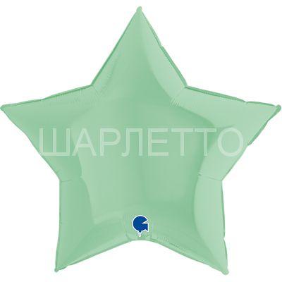Звезда Большая НЕЖНО-ЗЕЛЕНЫЙ (макарун)