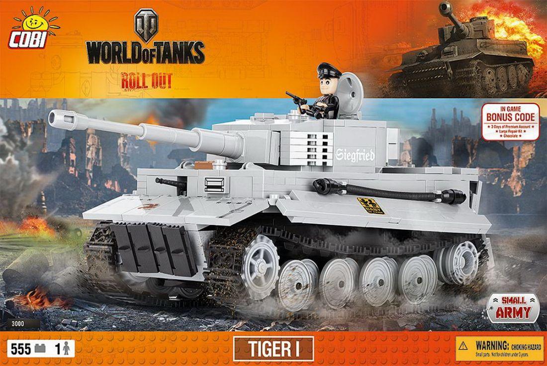 Конструктор COBI Тяжелый танк Tiger I (Тигр 1) 3000