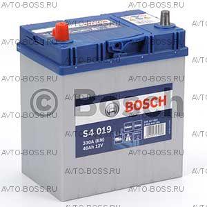 Автомобильный аккумулятор 0092S40190 BOSCH (S4 019) 40 a/h прям тонк.кл. 540127033 B19 40 Ач