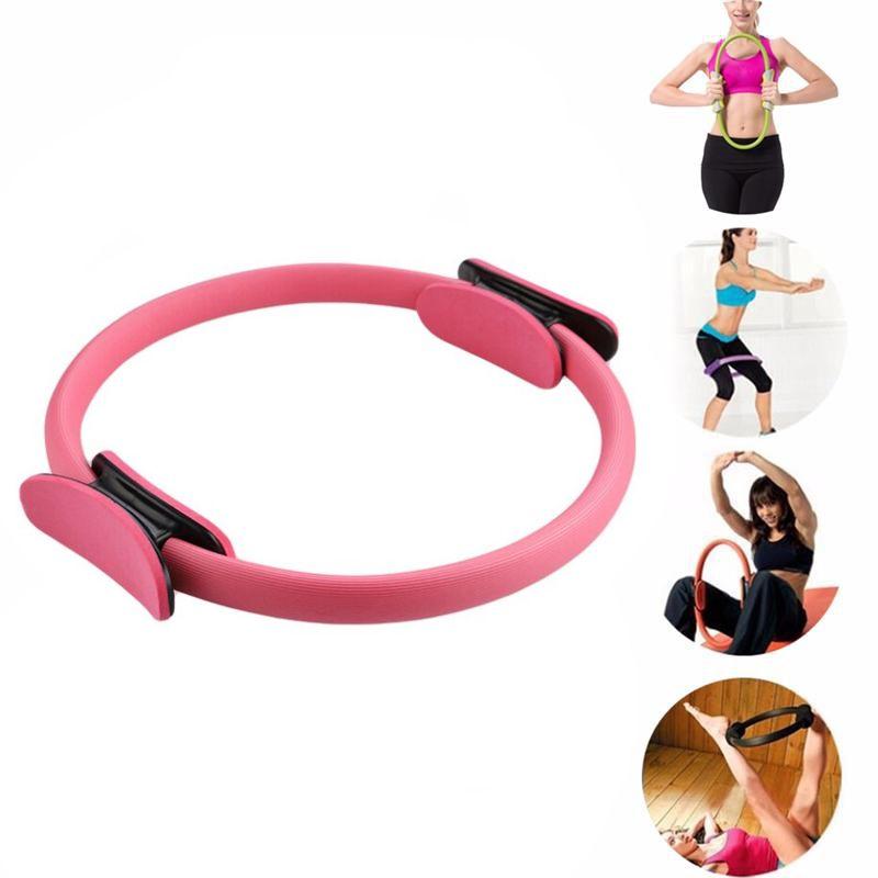 Тренажер-кольцо для пилатеса, 37 см, цвет розовый