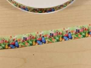 Лента репсовая с рисунком, ширина 25 мм, длина 10 м, Арт. ЛР5787