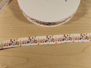 `Лента репсовая с рисунком, ширина 25 мм, Арт. Р-ЛР5778