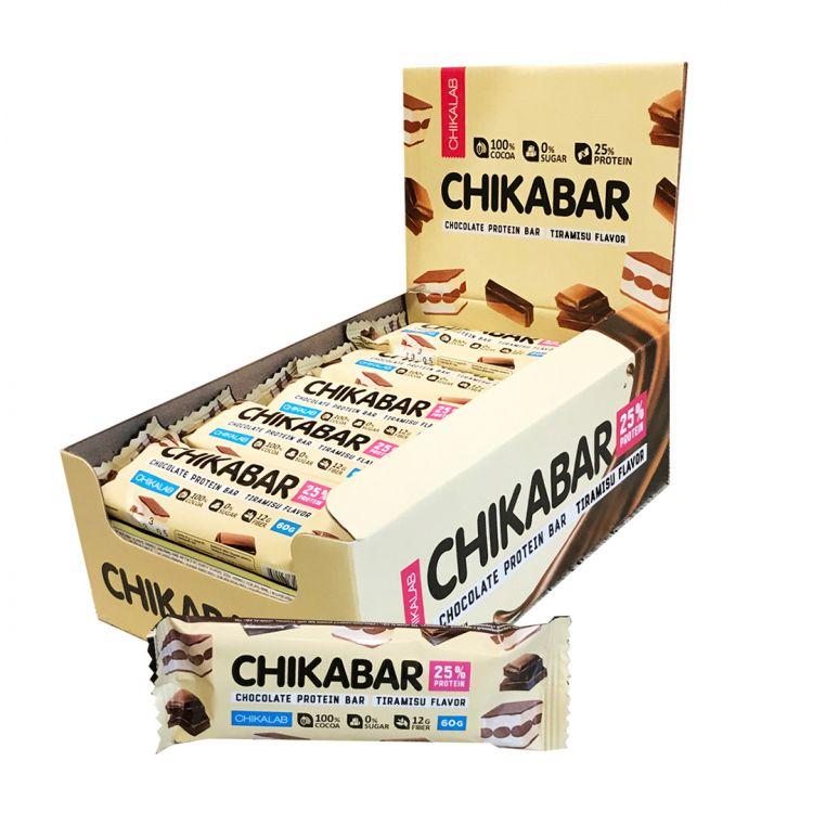 Протеиновый батончик в шоколаде Chikalab ТИРАМИСУ С МОЛОЧНОЙ НАЧИНКОЙ 60 гр