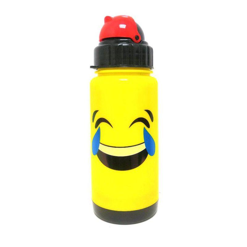 Бутылка-поильник с уплотнёнными стенками Смеющийся Смайлик, 300 мл