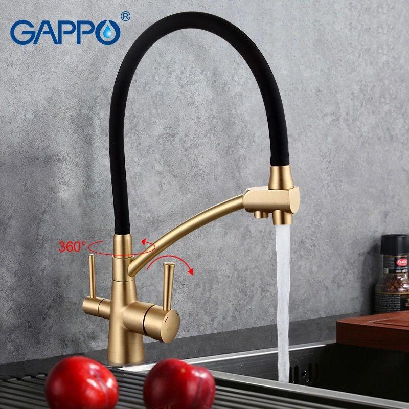 Gappo G4398-1 Смеситель для кухни с гибким изливом