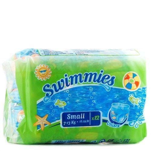 Подгузники-трусики Swimmies Swimmeies для плавания, 12 шт, 7-13 кг