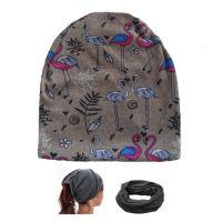 Женская шапка  TREEAM ФЛАМИНГО двухслойная