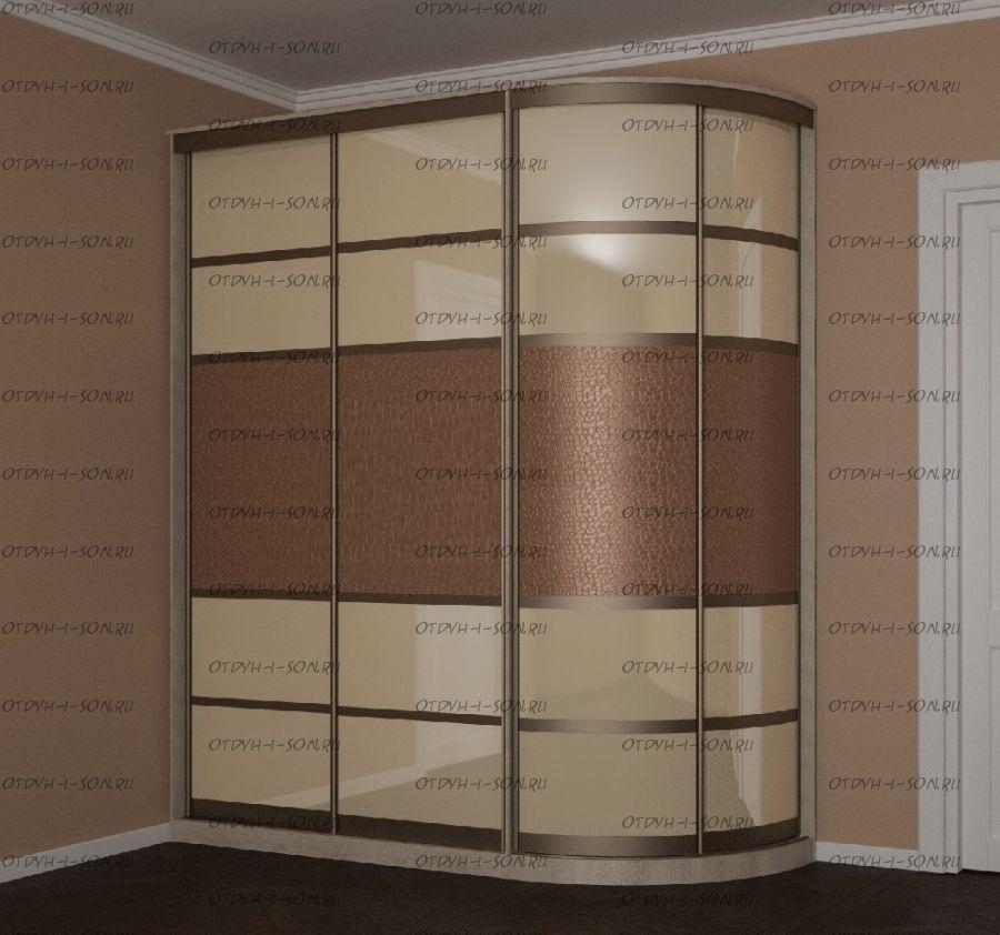 Шкаф-купе угловой 12 Версаль радиусный