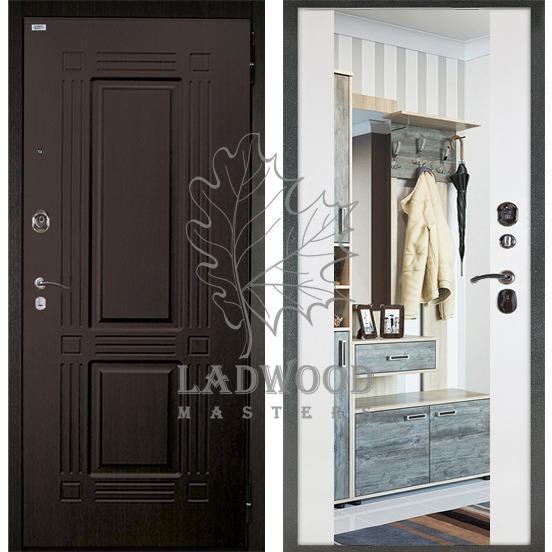 Сейф-дверь БЕРЛОГА  3К ВОЯЖ с зеркалом