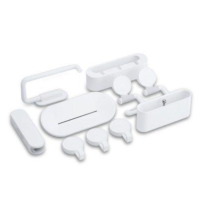 Набор настенных держателей для ванной комнаты Xiaomi Happy Life Bathroom Set 7шт