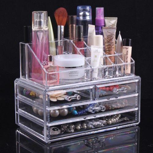 Акриловый органайзер для косметики Cosmetic Storage Box, 4 Ящичка