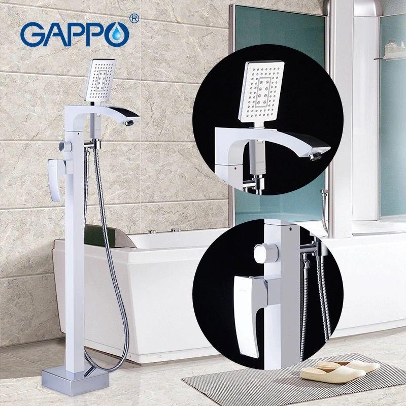 Gappo Jacob G3007-8 Напольный смеситель для ванны (белый/хром)