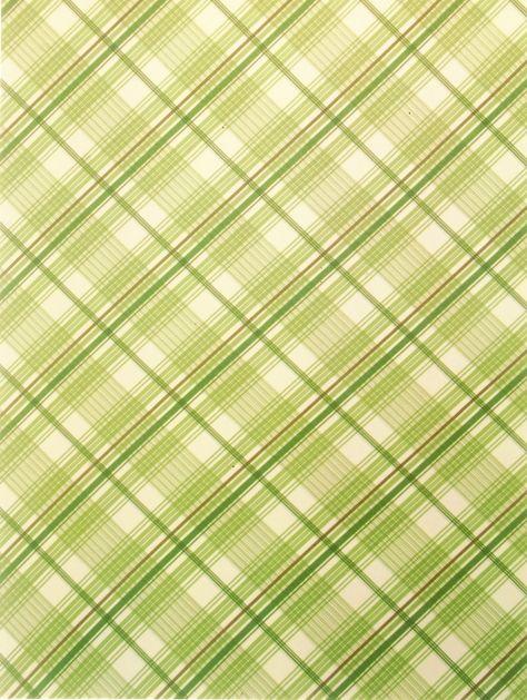 Декупажная карта, 20*30 см, Зеленая клетка
