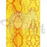 Бумага для декупажа DECOPATCH 30х40 / Змеиная кожа/ желт (арт. C-FDA 4780)