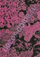 Бумага для декупажа DECOPATCH в блистере(3 листа 30*40)/ Розовые кружева на черном (арт. C-FDA 4600)