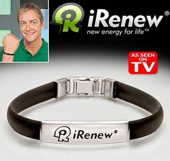 Энергетический браслет для занятий спортом iRenew