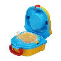 Портативный складной детский горшок-чемоданчик The Handy Potty, цвет желтый (2)