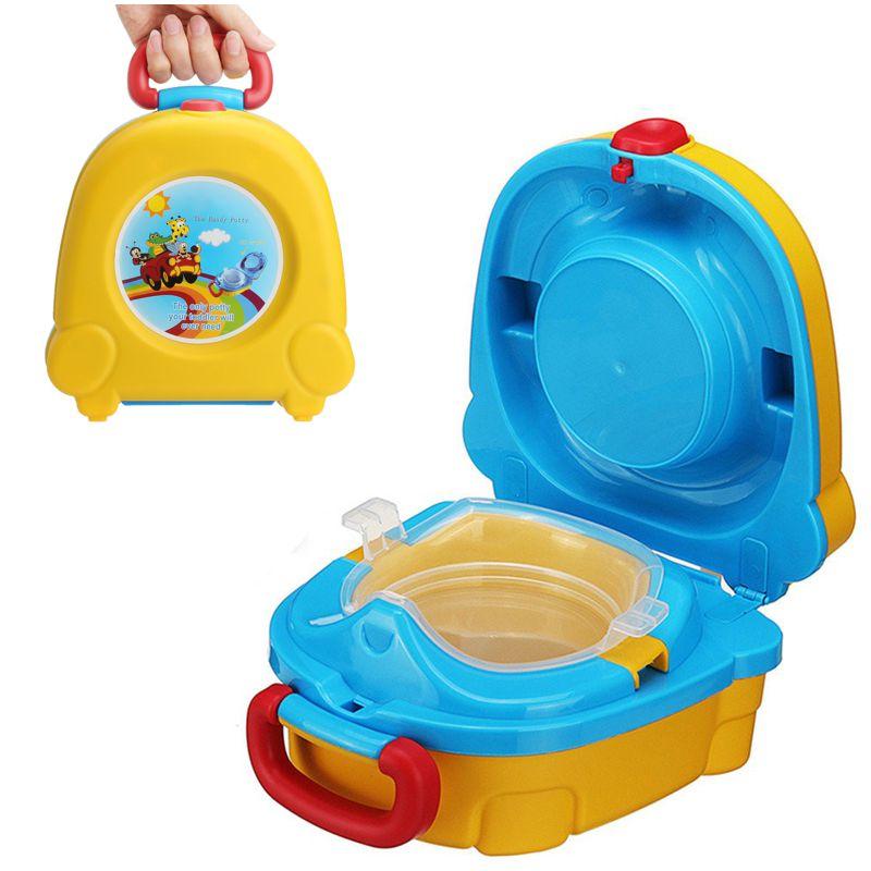 Портативный Складной Детский Горшок-Чемоданчик The Handy Potty, Цвет Желтый