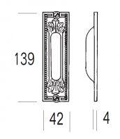 Ручка Salice Paolo Belgrado 4297-s для раздвижных дверей. схема