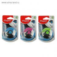 Ластик Zenoa круглый с поворотным пластиковым футляром, блистер, микс (арт. 123210)
