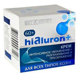 """Белкосмекс Hialuron+ Крем 60+ """"Интенсивное увлажнение + Разглаживание и Преображение"""" 48г"""