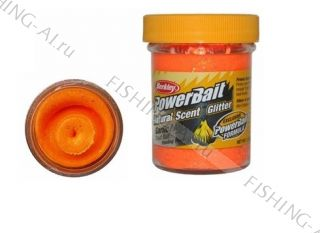 Форелевая паста Berkley PowerBait Natural Scent Trout Bait Garlic Fluo Orange Чеснок