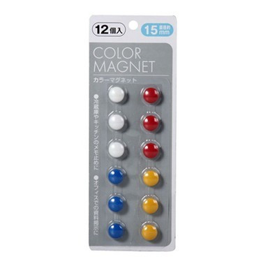 Цветные магниты для холодильника, 12 шт