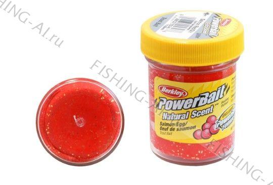Форелевая паста Berkley PowerBait Natural Scent Trout Bait Salmon egg Red Икра