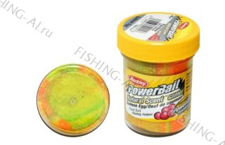 Форелевая паста Berkley PowerBait Natural Scent Trout Bait Salmon egg Rainbow Икра
