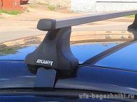 Багажник на крышy Nissan Juke, Атлант, прямоугольные дуги, опора E