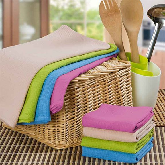 Набор вафельных полотенец (4 шт.)