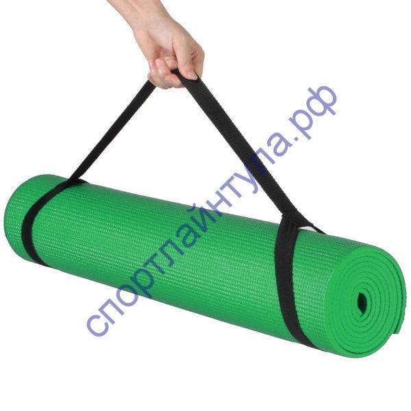 Коврик д/ йоги 173х61х0,3 см (зеленый) с лямками для переноски. Арт: T07635