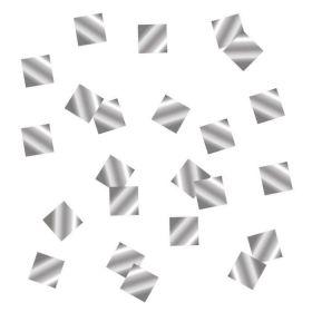 Конфетти квадраты серебро, фольга, 10 мм, 500 гр
