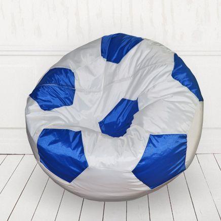 Кресло мяч иск.кожа Белый с синим