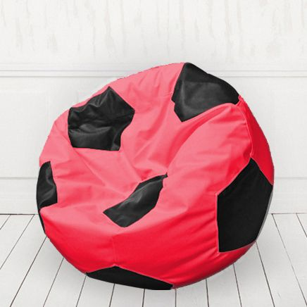 Кресло мяч иск.кожа Красный с черным