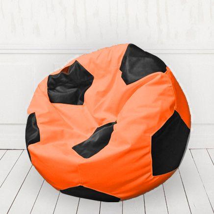 Кресло мяч иск.кожа Оранжевый с черным