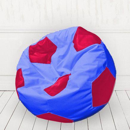 Кресло мяч иск.кожа Синий с красным