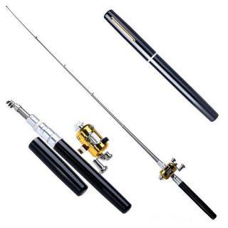 Карманная удочка в виде ручки Fishing Rod in Pen Case, Цвет: Чёрный