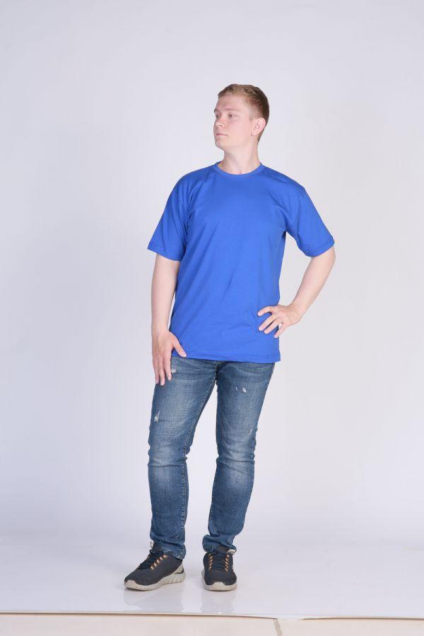 Футболка мужская без принта Синяя