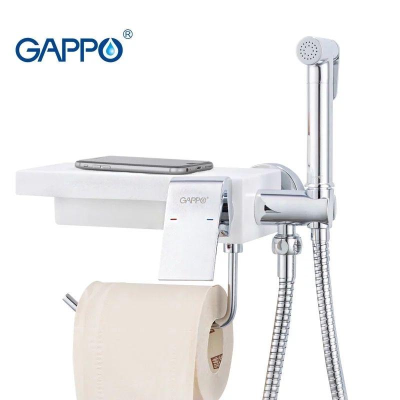 Gappo Gyron G7296 Смеситель с гигиеническим душем и бумагодержателем