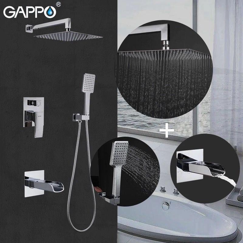 Встраиваемая душевая система Gappo G7107-20