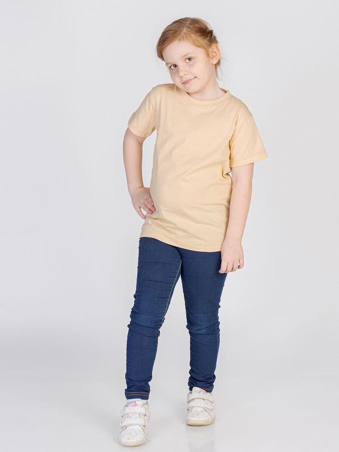 футболка детская без принта Бежевый