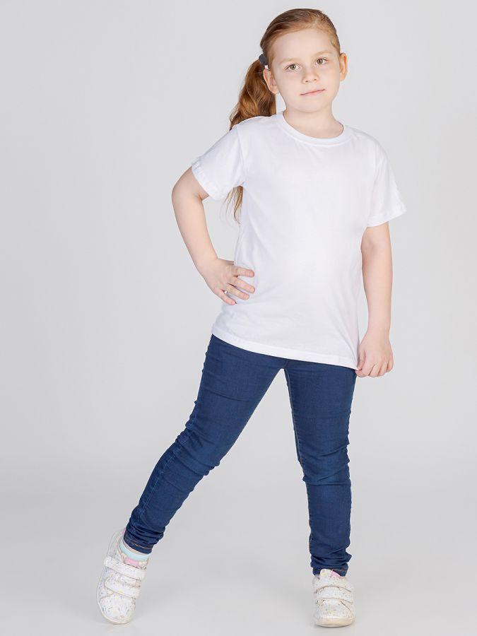 футболка детская без принта Белая