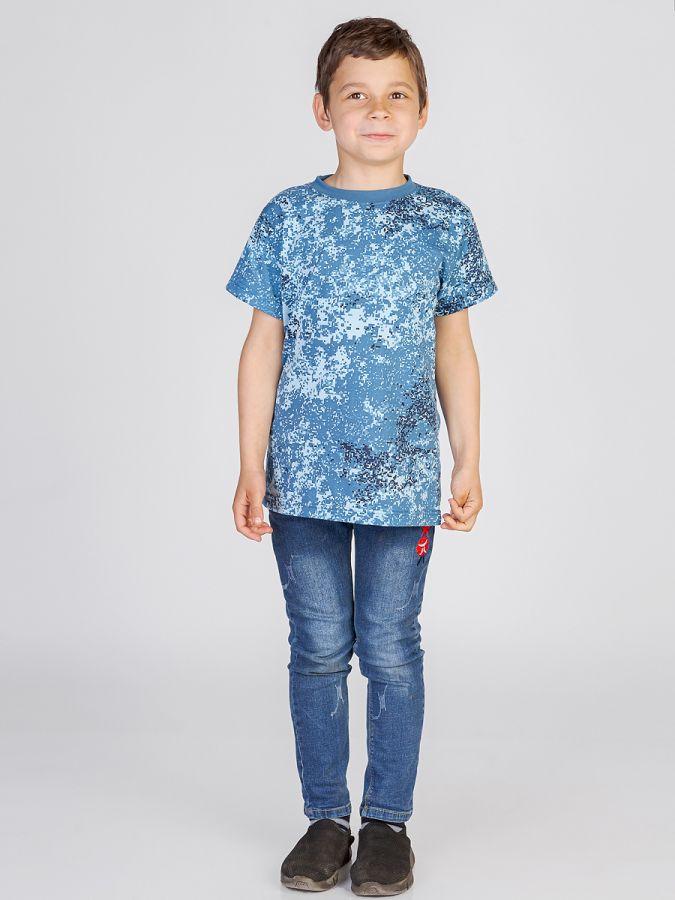 футболка детская без принта Волна