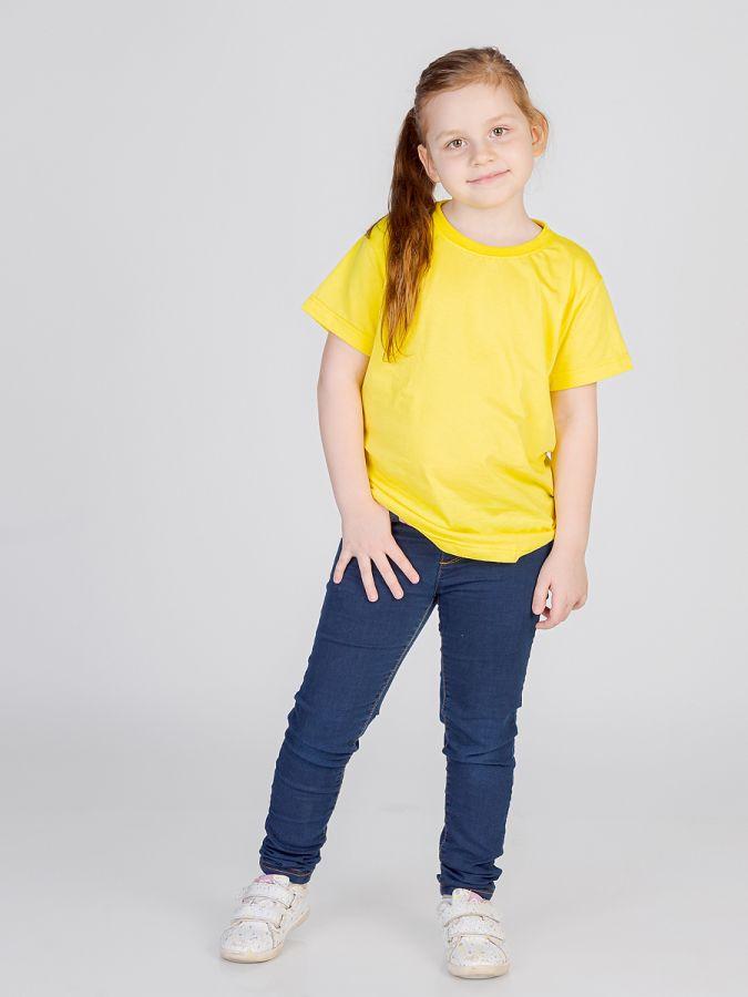 футболка детская без принта Желтая
