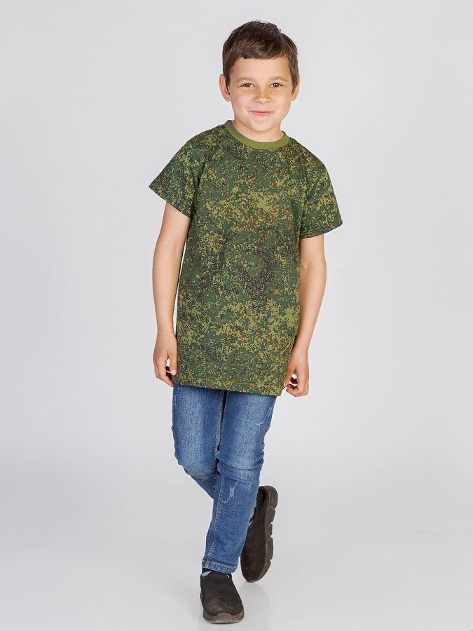 футболка детская без принта Камуфляж пиксельный