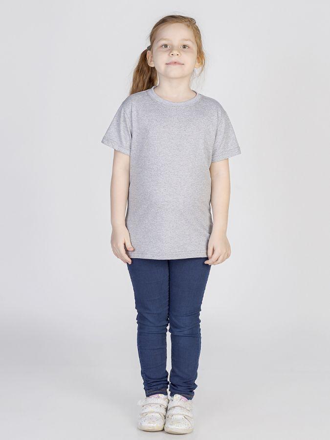 футболка детская без принта Серая